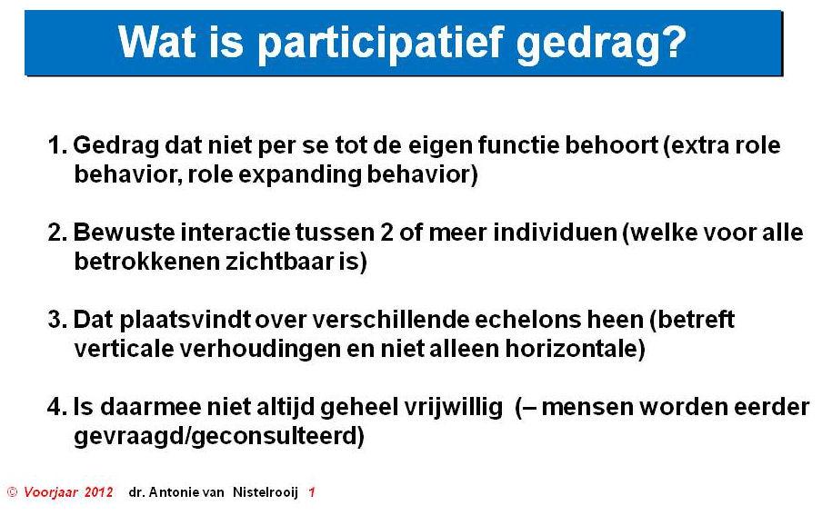 participatief gedrag
